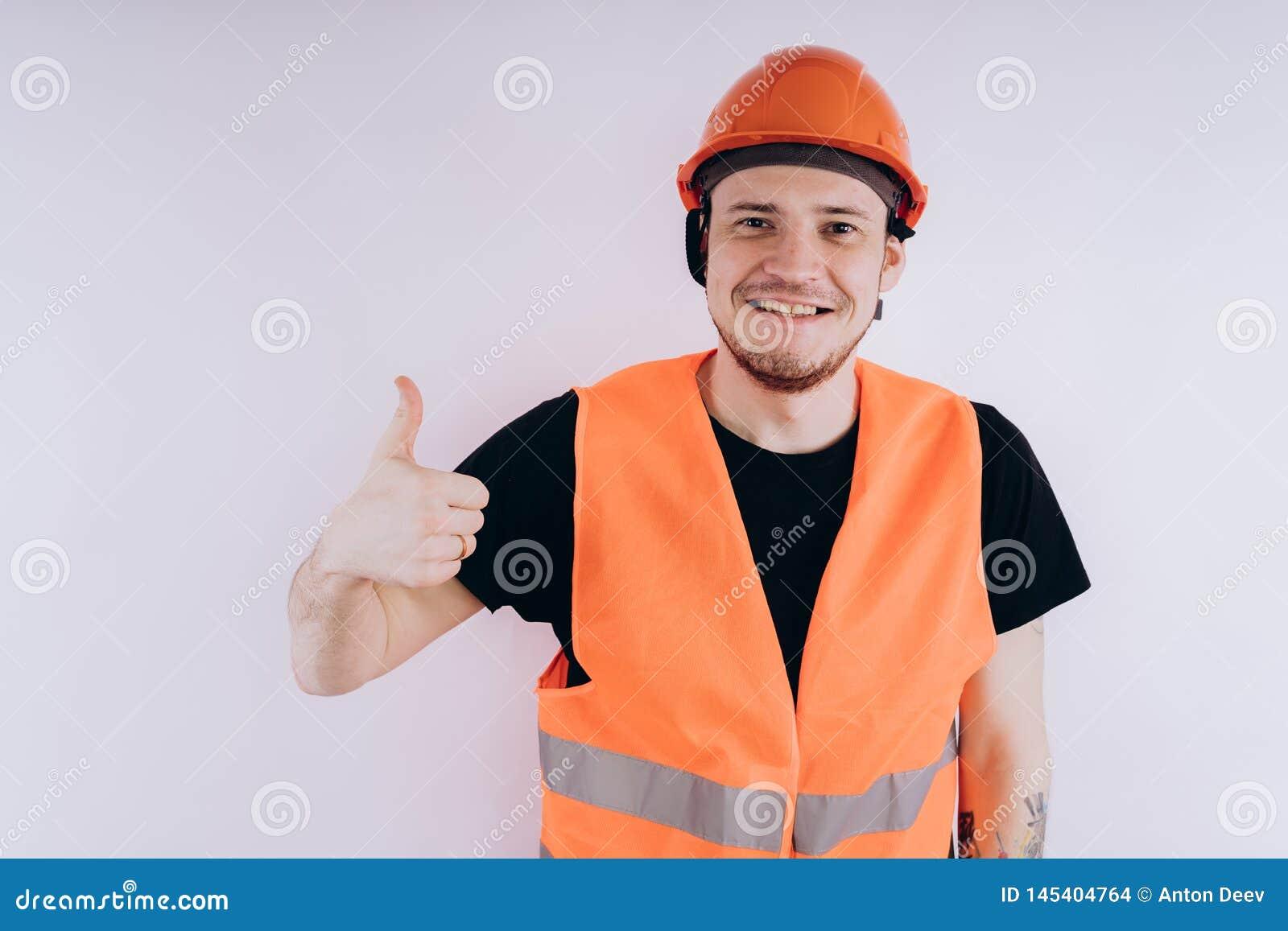 Άτομο στην εργασία ομοιόμορφη στο άσπρο υπόβαθρο