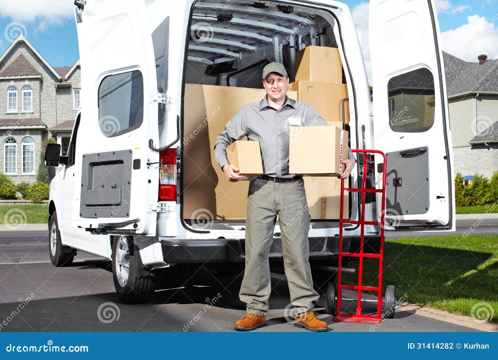 Άτομο ταχυδρομικής υπηρεσίας παράδοσης.