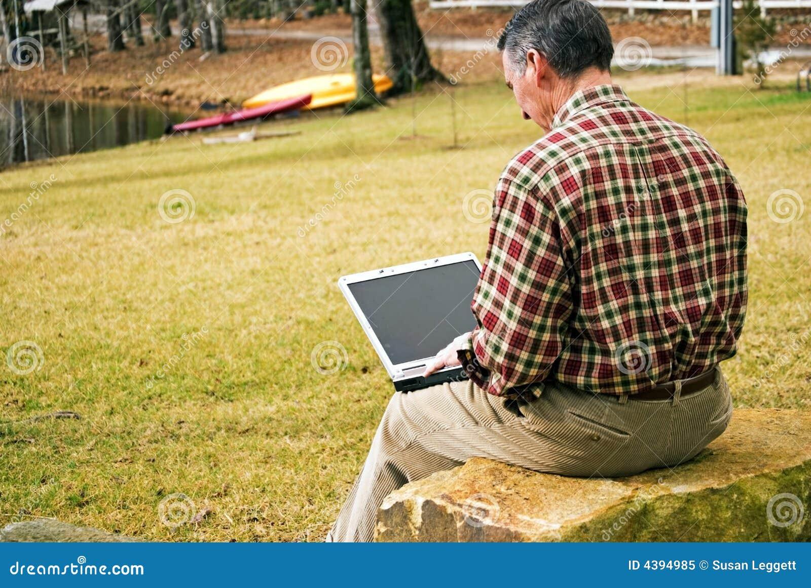 άτομο υπολογιστών υπαίθ&rh