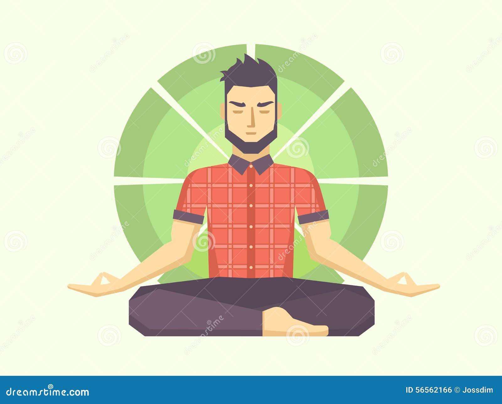 Download Άτομο Meditates στη θέση λωτού Διανυσματική απεικόνιση - εικονογραφία από ένας, άσκηση: 56562166