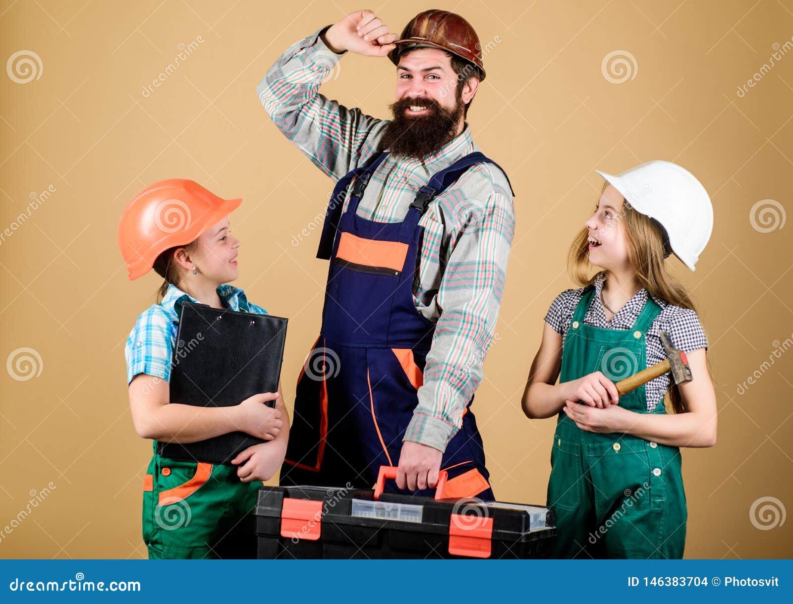 Άτυπη εκπαίδευση Ημέρα πατέρων Οι αδελφές βοηθούν τον οικοδόμο πατέρων Εγχώρια ανακαίνιση Δημιουργήστε το δωμάτιο που θέλετε πραγ