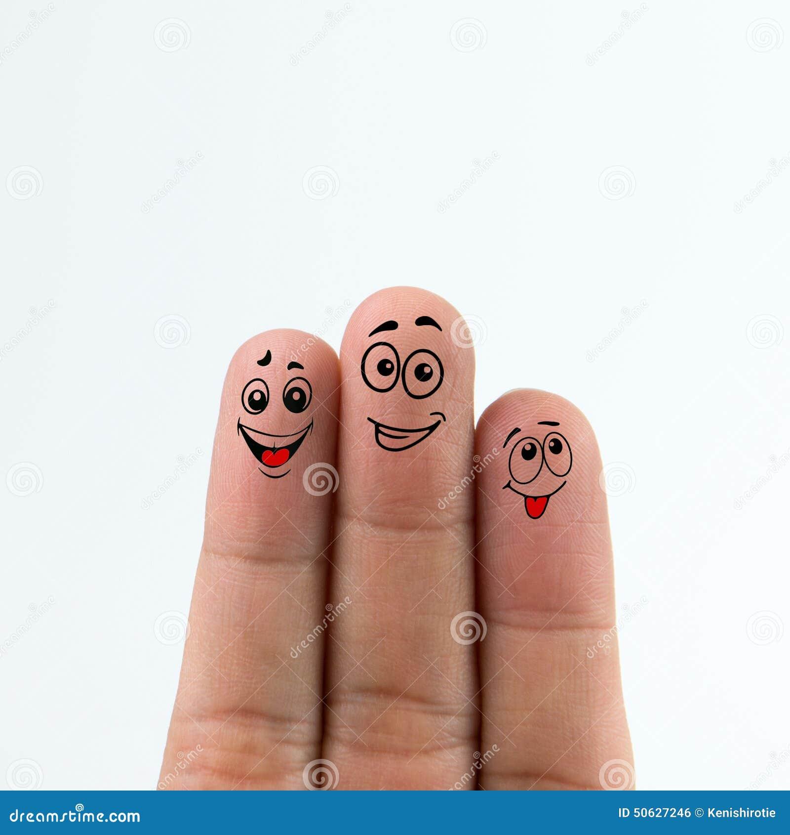 δάχτυλα ευτυχή