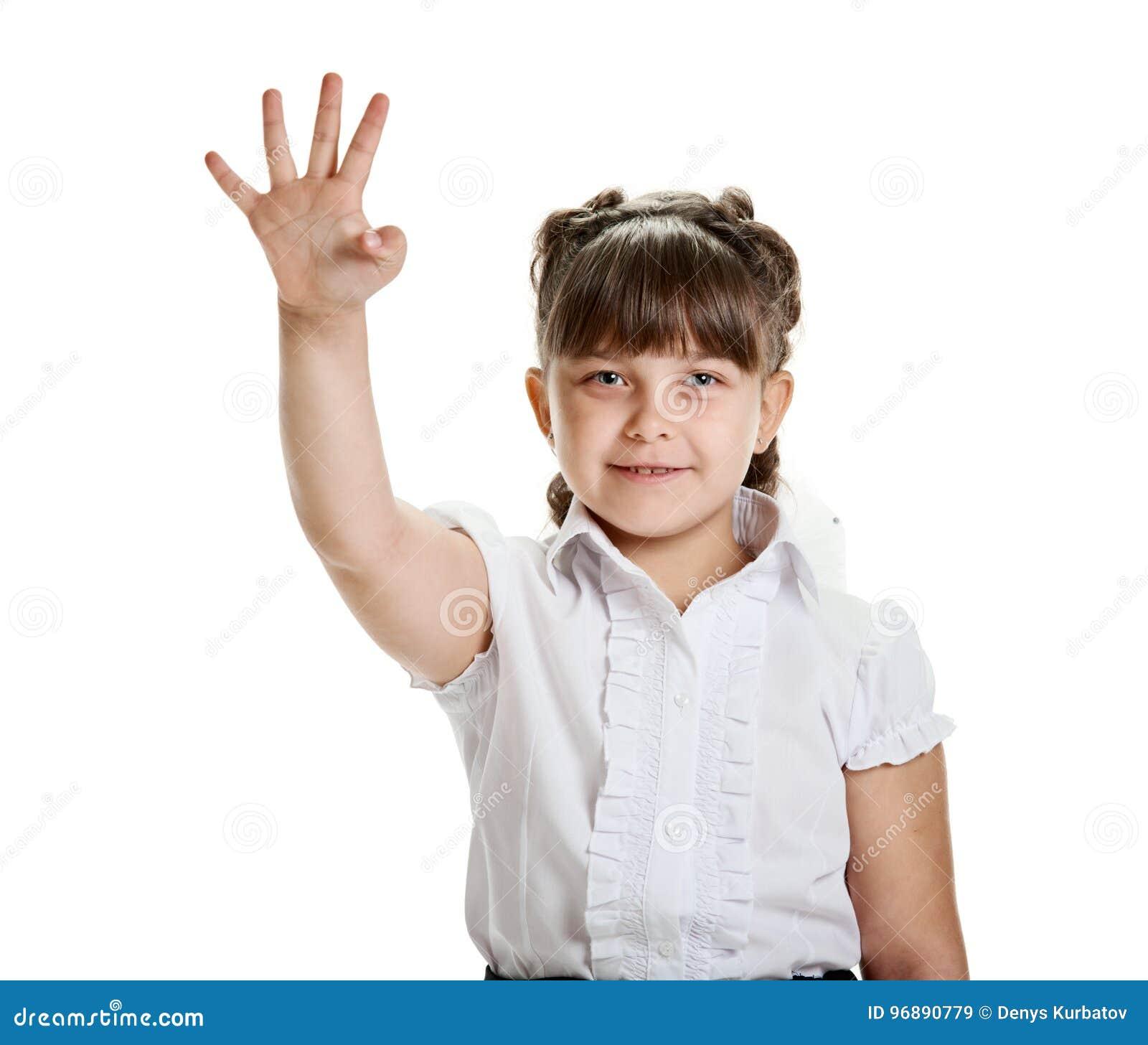 δάχτυλα τέσσερα που εμφανίζουν