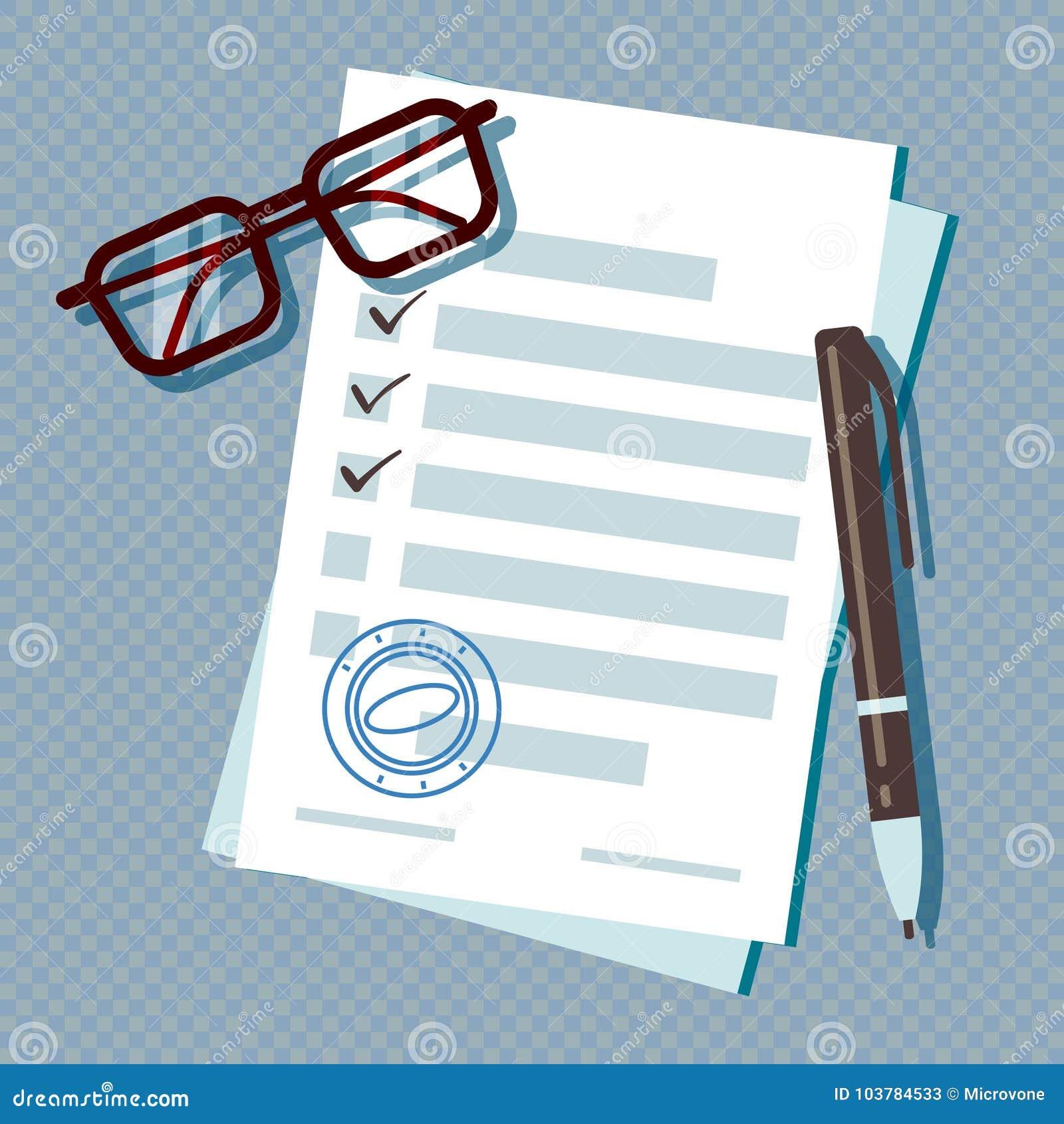 Έγγραφο αίτησης υποψηφιότητας δανείου που απομονώνεται στο διαφανές υπόβαθρο