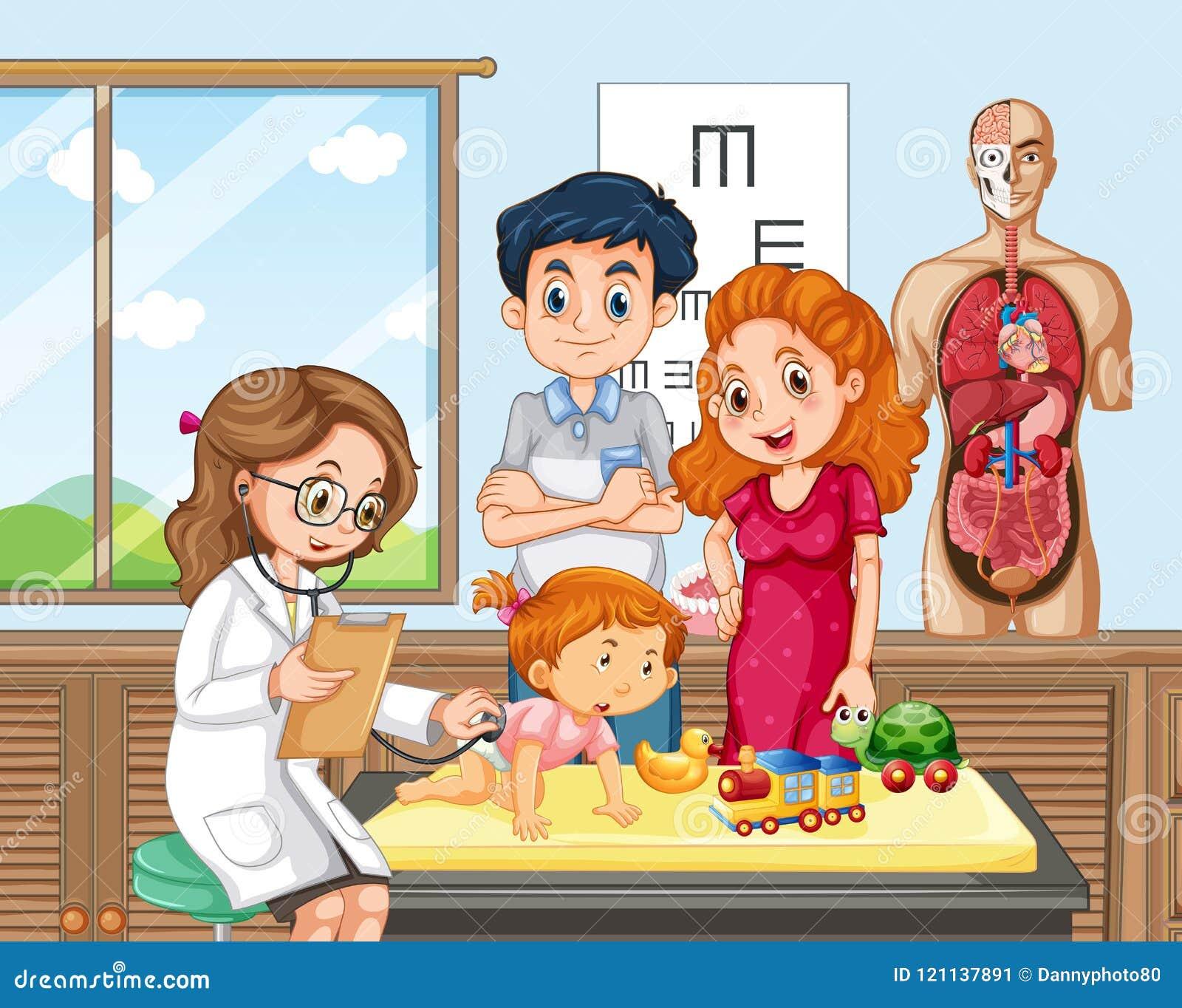 Έλεγχος μωρών επάνω με το γιατρό