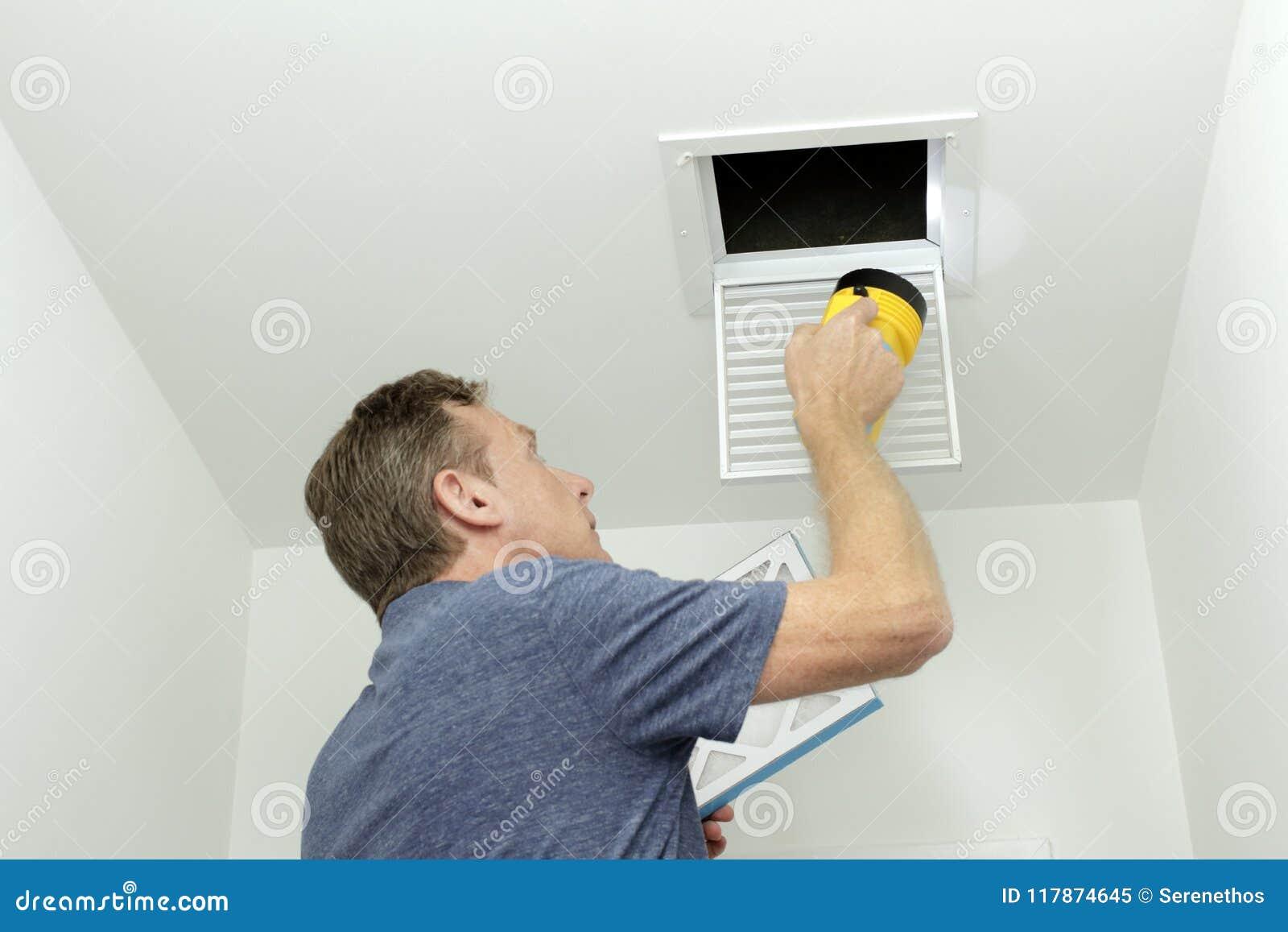Έλεγχος των αεραγωγών στο εγχώριο HVAC σύστημα