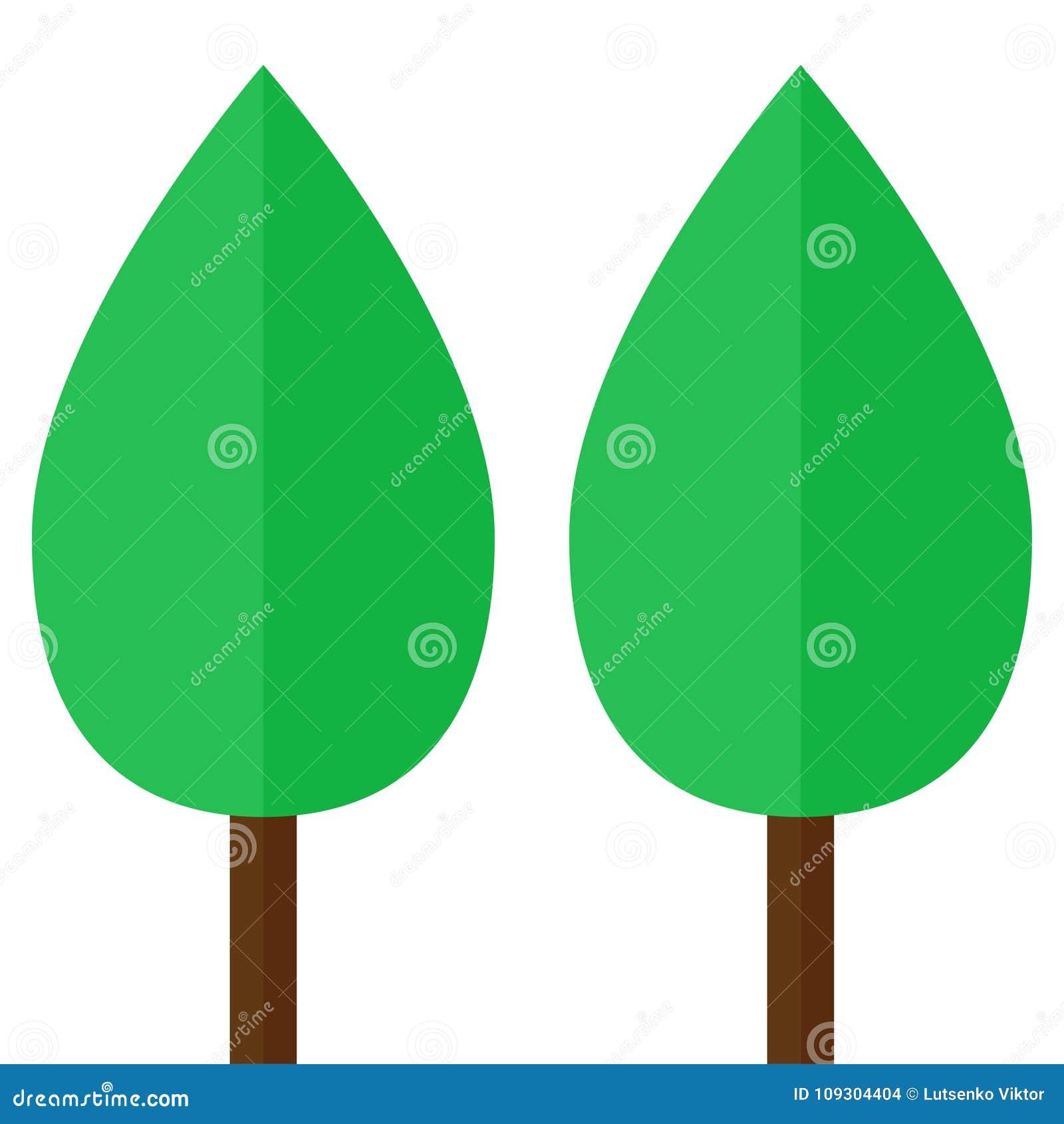 έμβλημα δύο απλό δέντρων