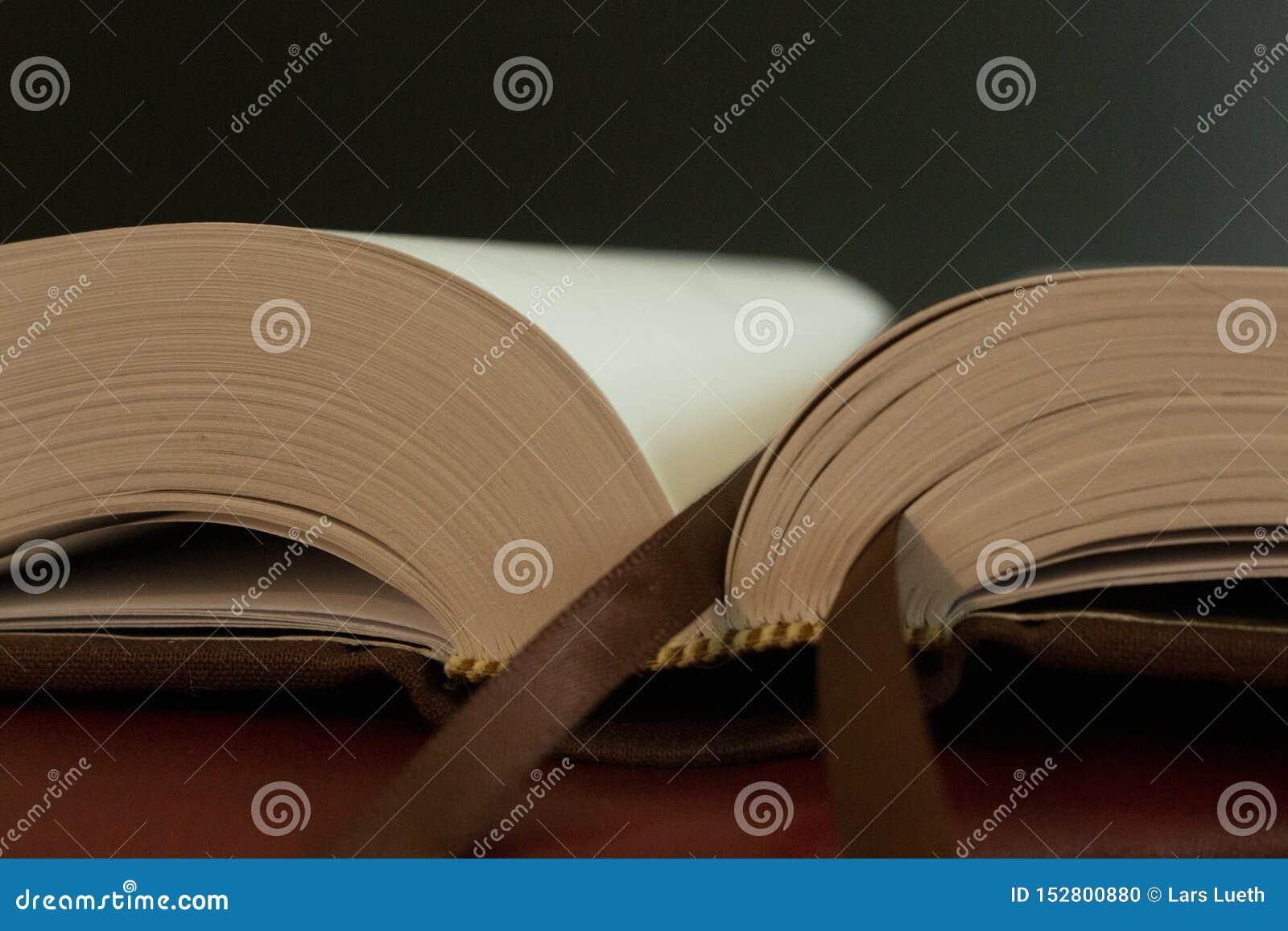 Ένας σελιδοδείκτης στις σελίδες ενός ανοικτού βιβλίου