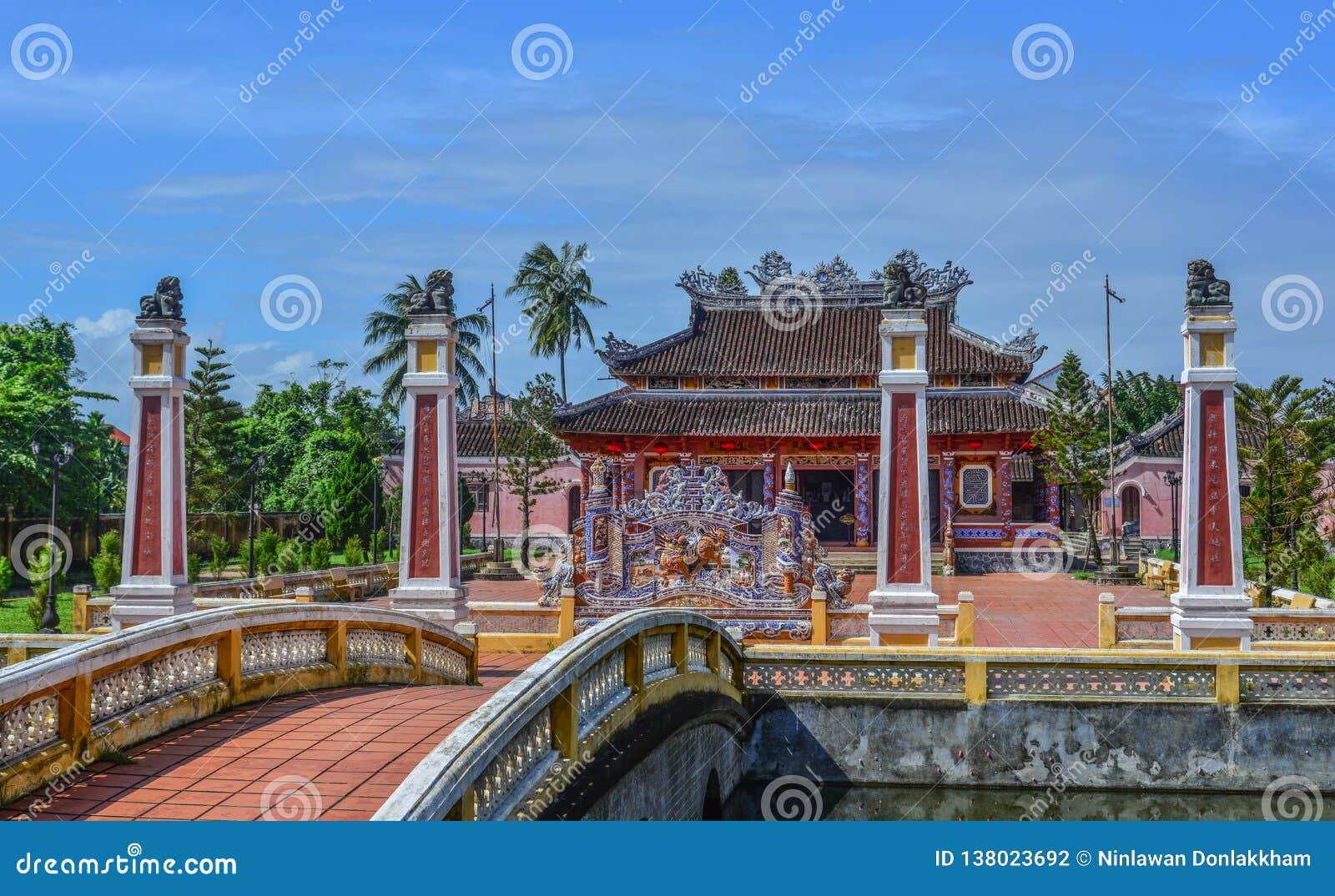 Ένας τοπικός ναός σε Hoi μια παλαιά πόλη