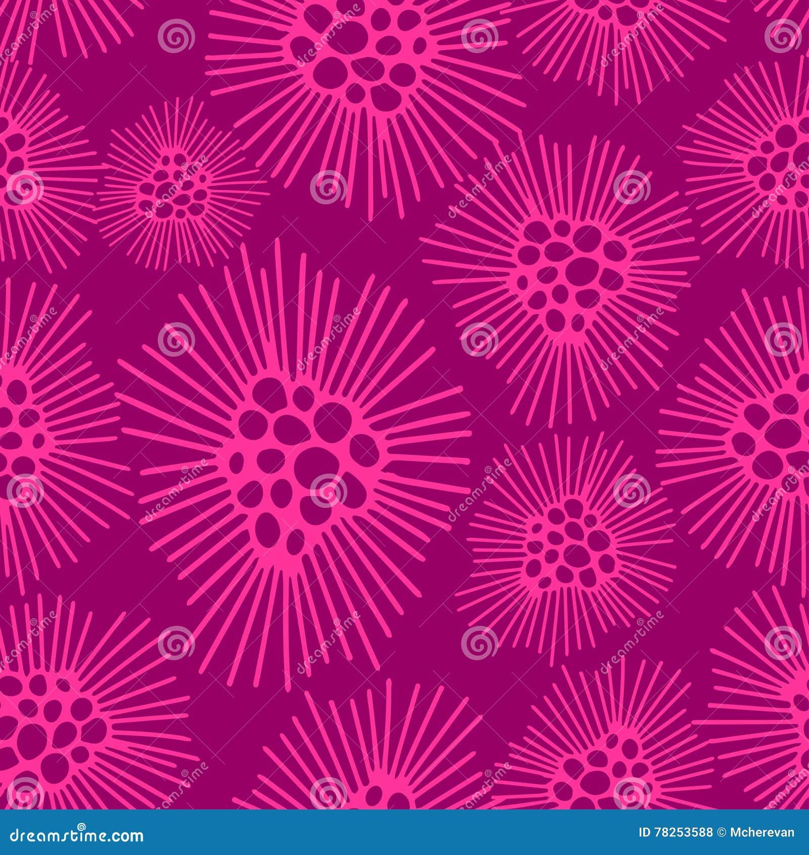Ένα άνευ ραφής σχέδιο πικραλίδες ανθίζει το ροζ