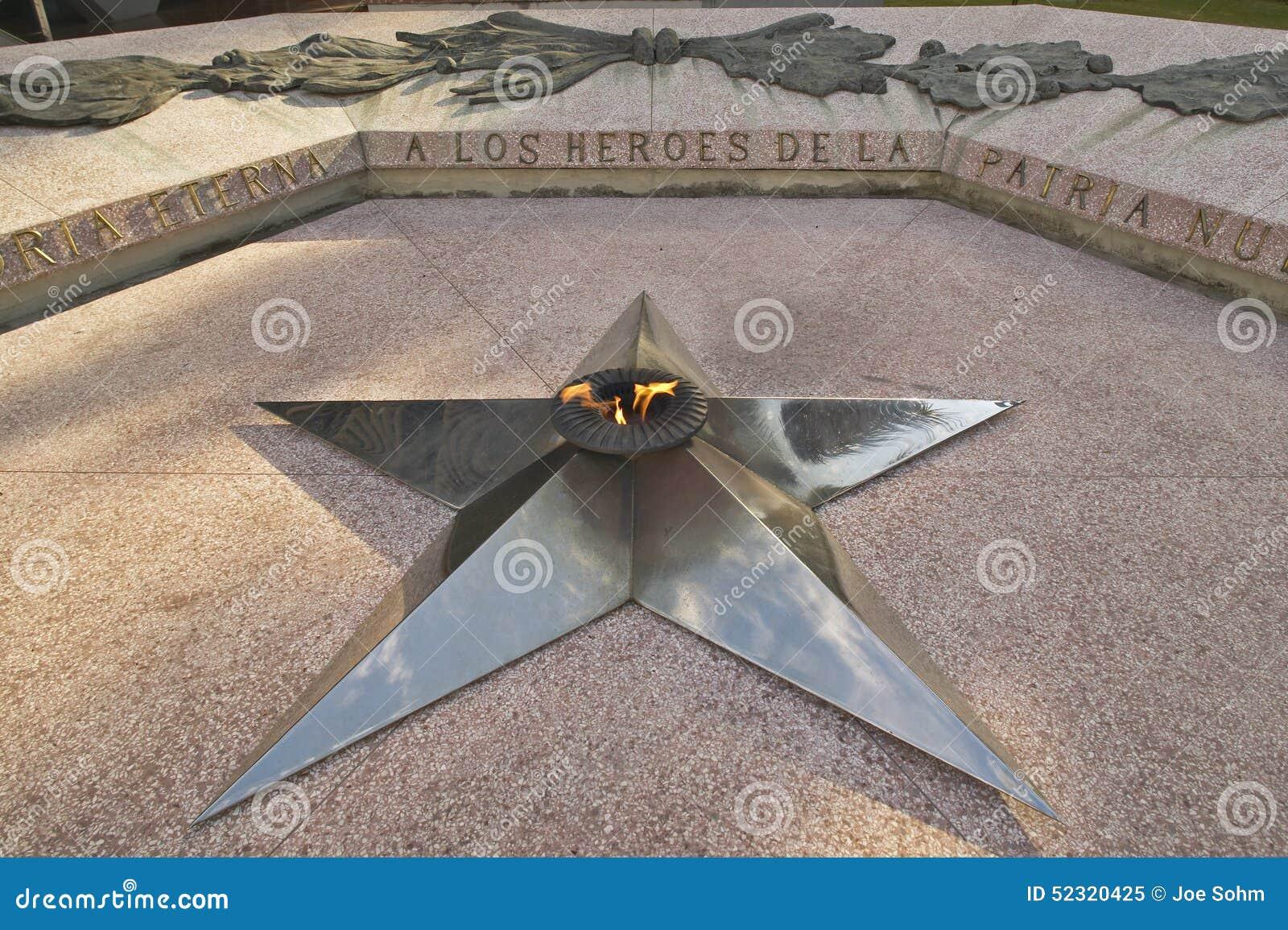 Ένα αστέρι που αντιπροσωπεύει την κουβανική επανάσταση που επιδεικνύεται στο μουσείο της επανάστασης της Αβάνας, Κούβα