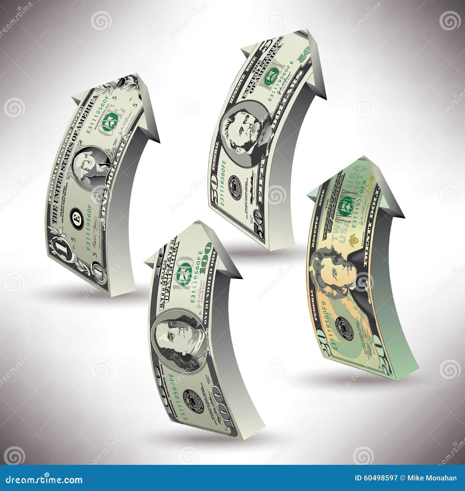 Ένα λεπτομερές διανυσματικό σχέδιο των λογαριασμών βελών