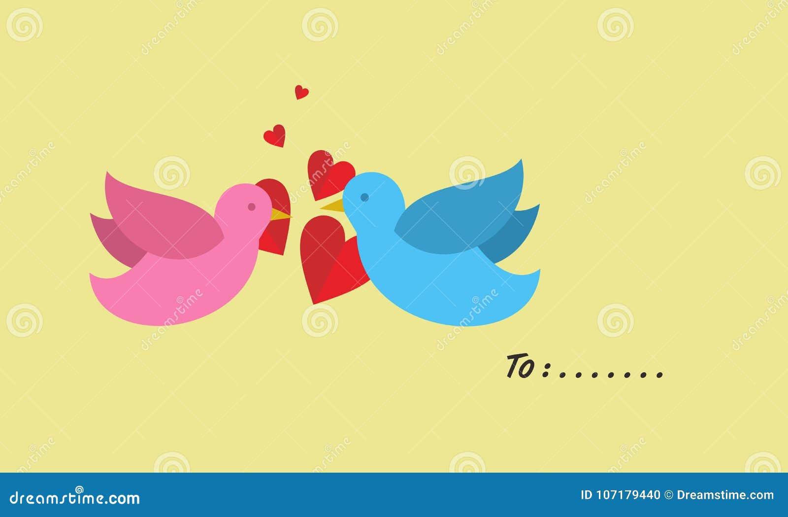Ένα ζευγάρι της αγάπης των πουλιών
