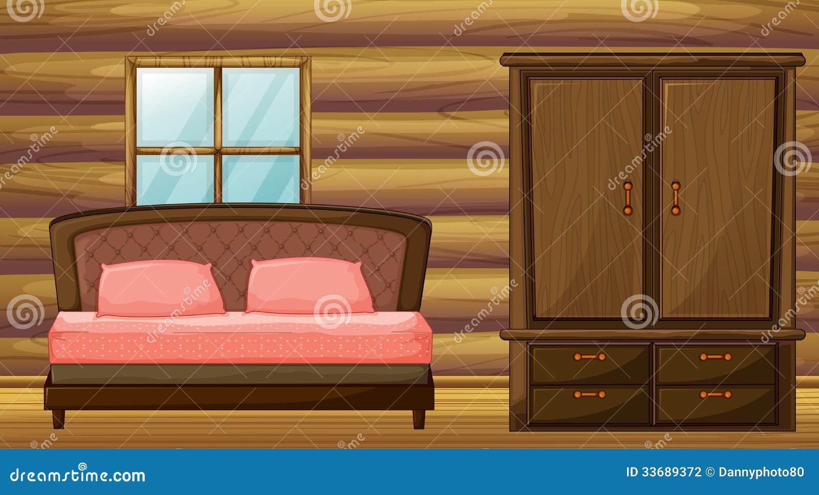 Απεικόνιση ενός κρεβατιού και μια