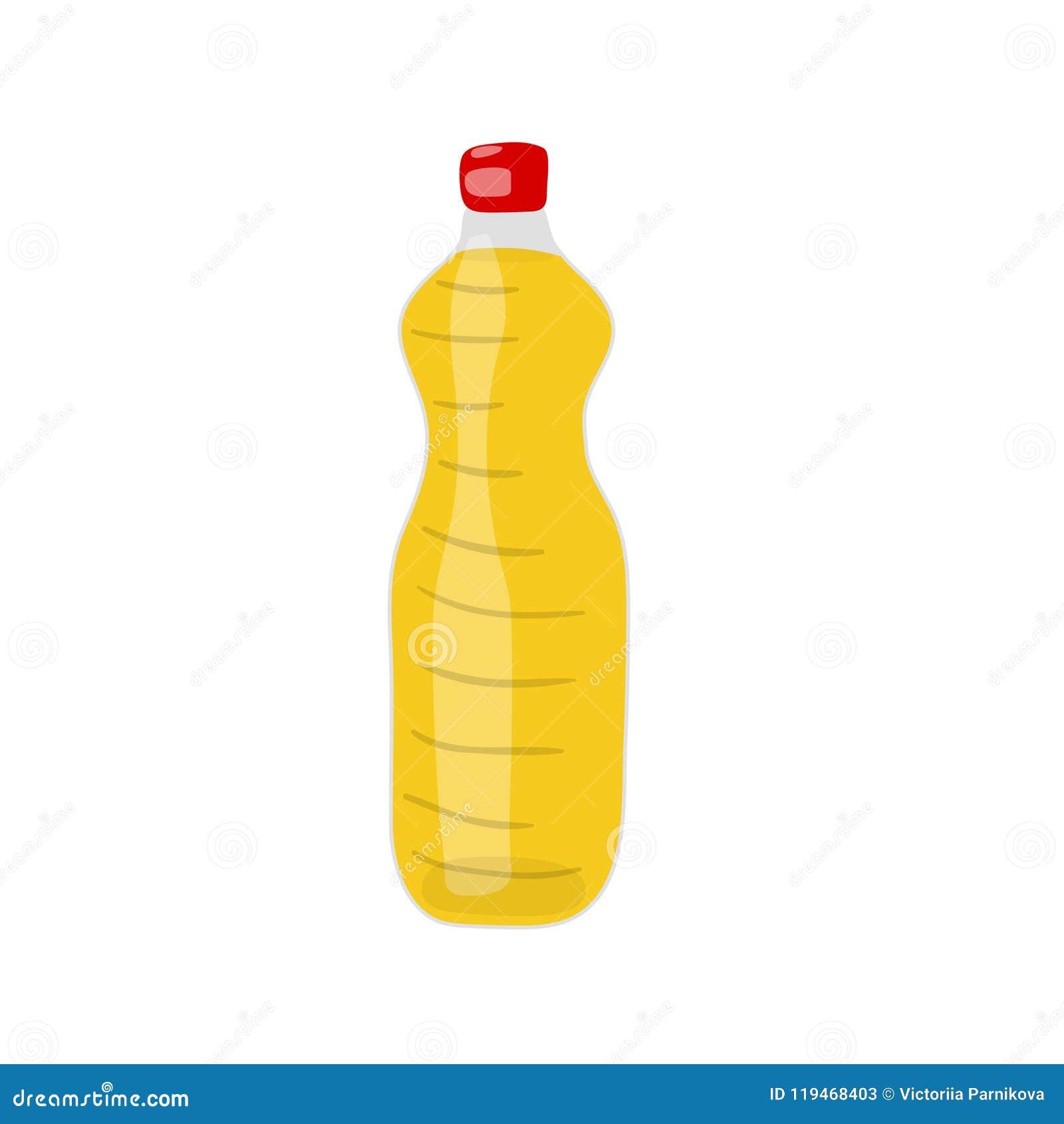 Ένα μπουκάλι του υδρογονωμένου διανυσματικού ico πετρελαίου λαχανικών, canola ή σόγιας