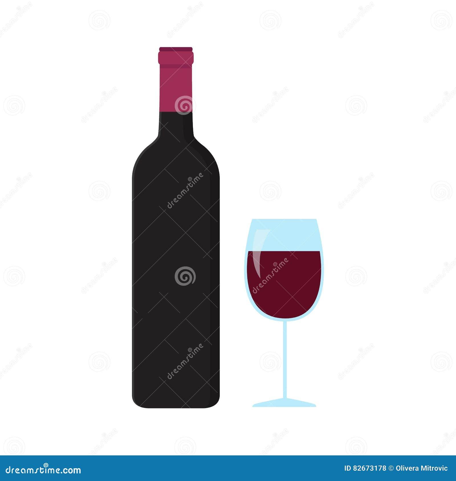 Ένα μπουκάλι και ένα ποτήρι του κρασιού