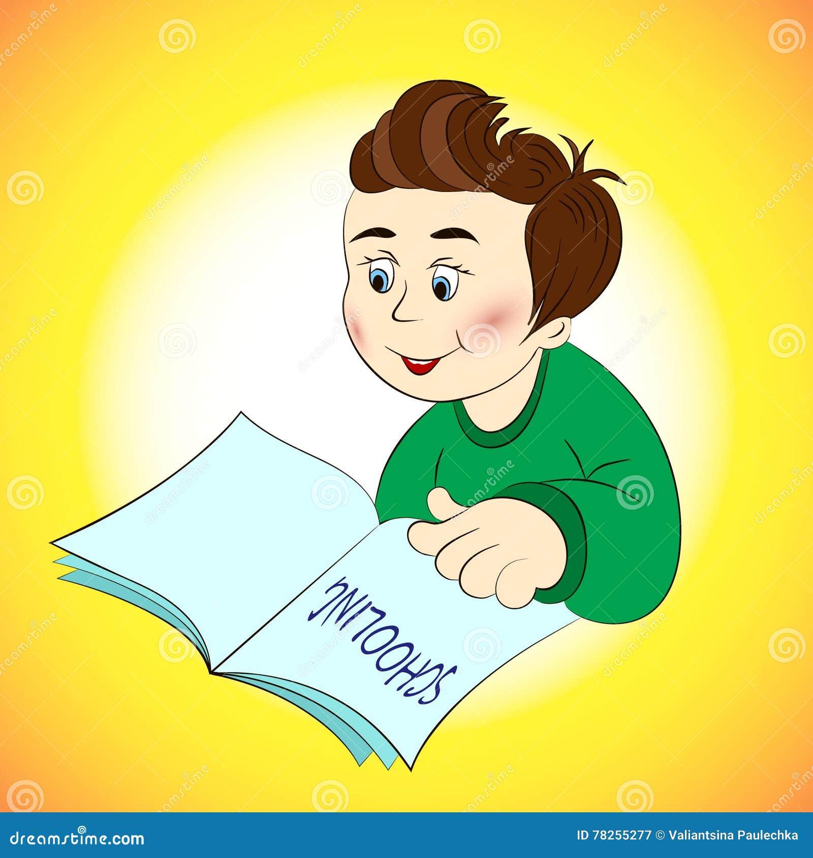 Ένα νέο αγόρι με ένα βιβλίο