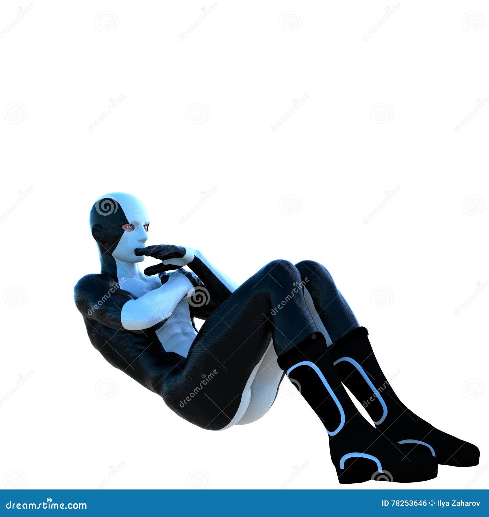 Ένα νέο ισχυρό άτομο σε ένα άσπρο και μαύρο έξοχο κοστούμι
