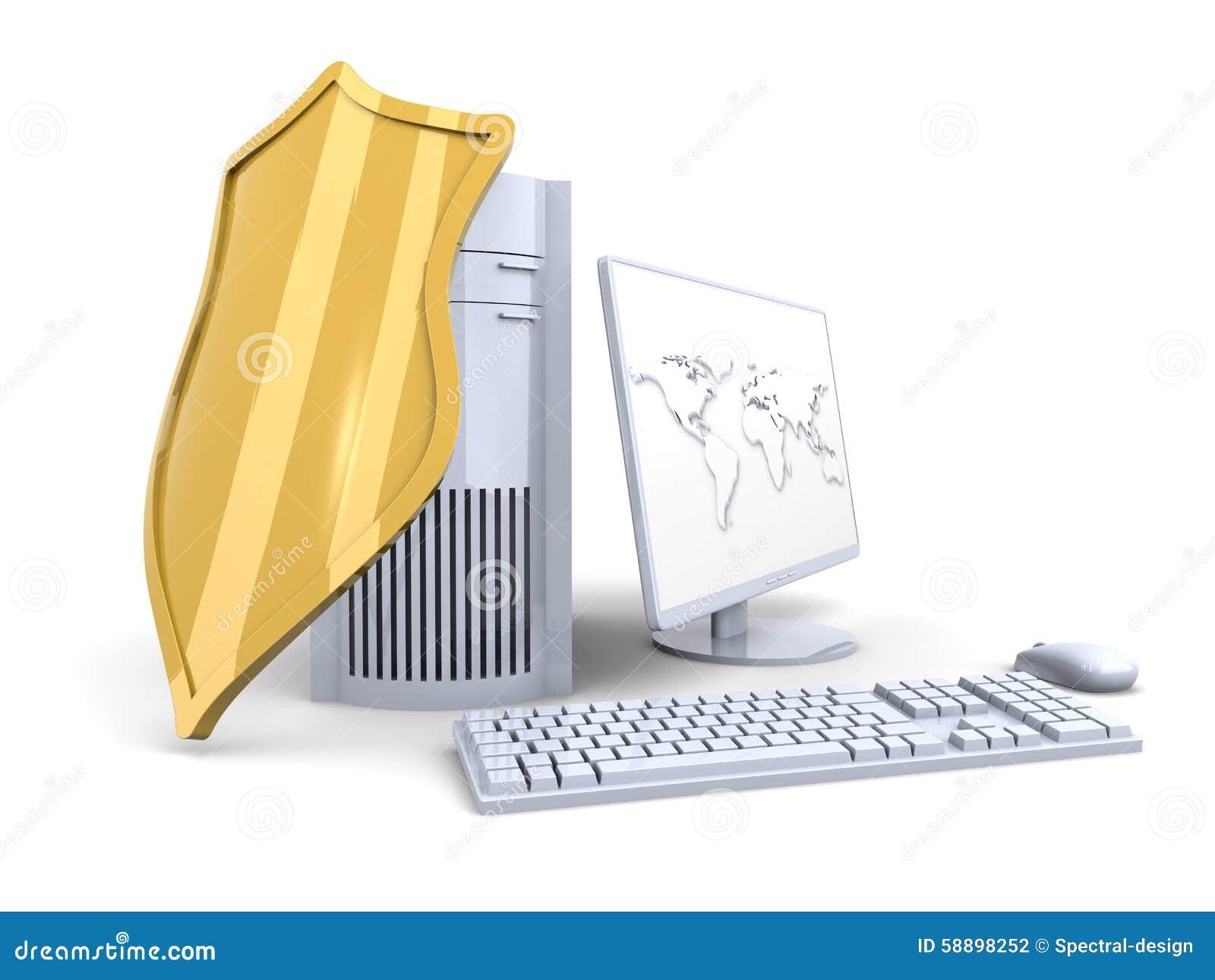Ένα προστατευμένο και προστατευμένο σύστημα υπολογιστών γραφείου