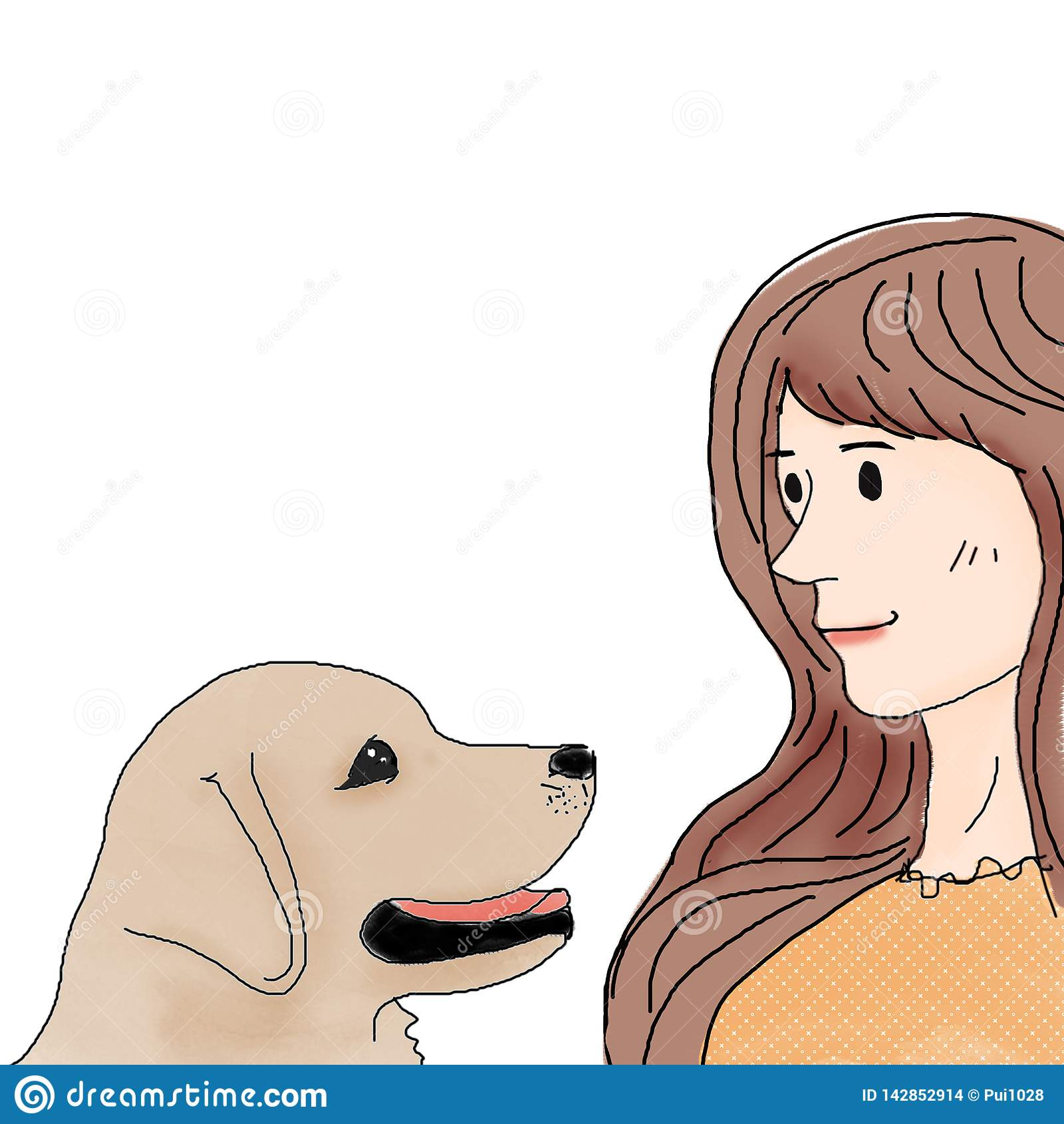 Ένα σκυλί και ένα κορίτσι