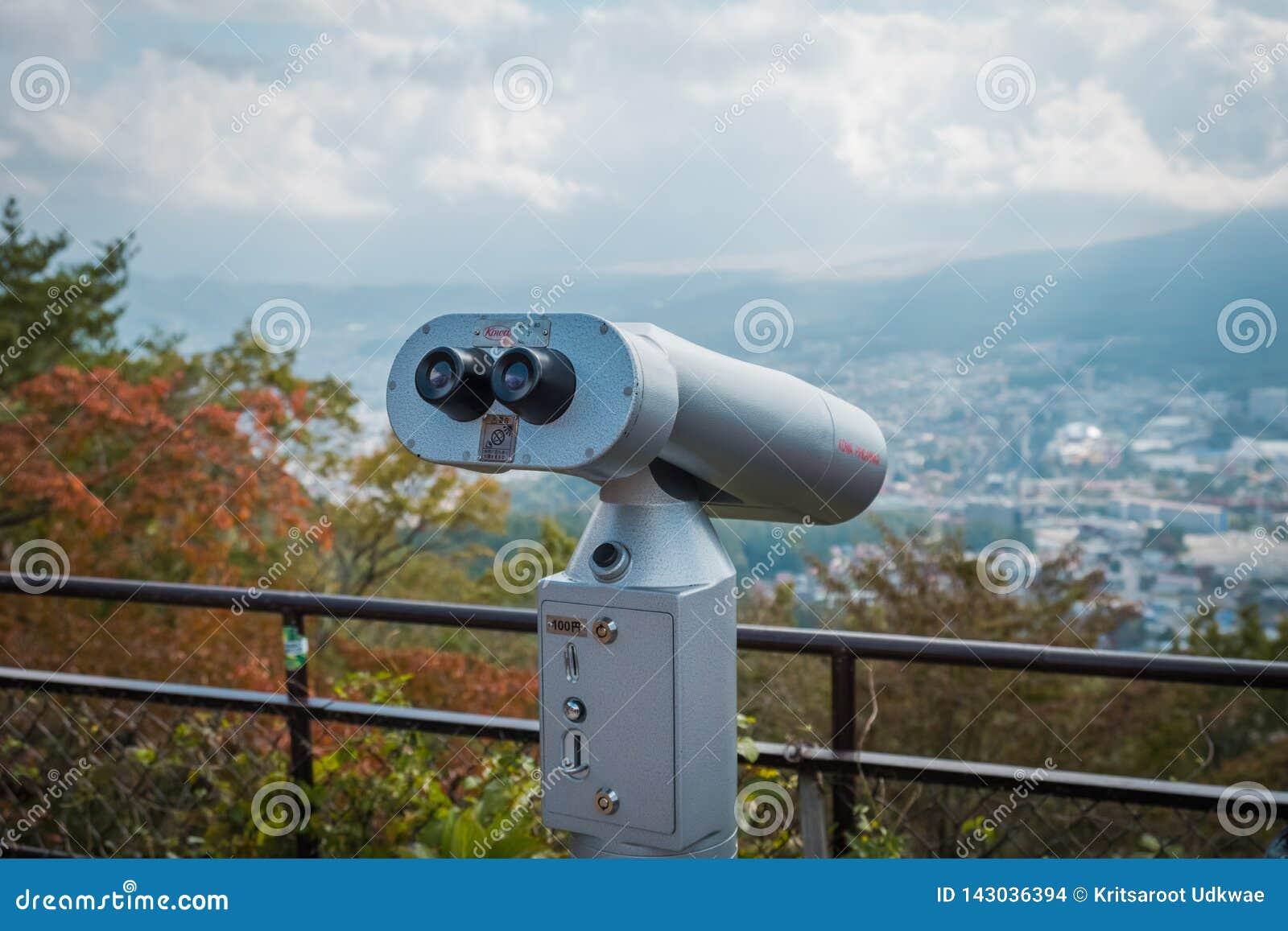Ένα τηλεσκόπιο Ropeway Kachi Kachi στο σημείο άποψης, Ιαπωνία