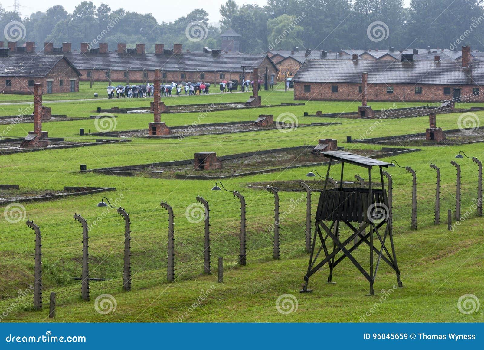 Ένα τμήμα του στρατοπέδου συγκέντρωσης auschwitz-Birkenau σε Oswiecim στην Πολωνία