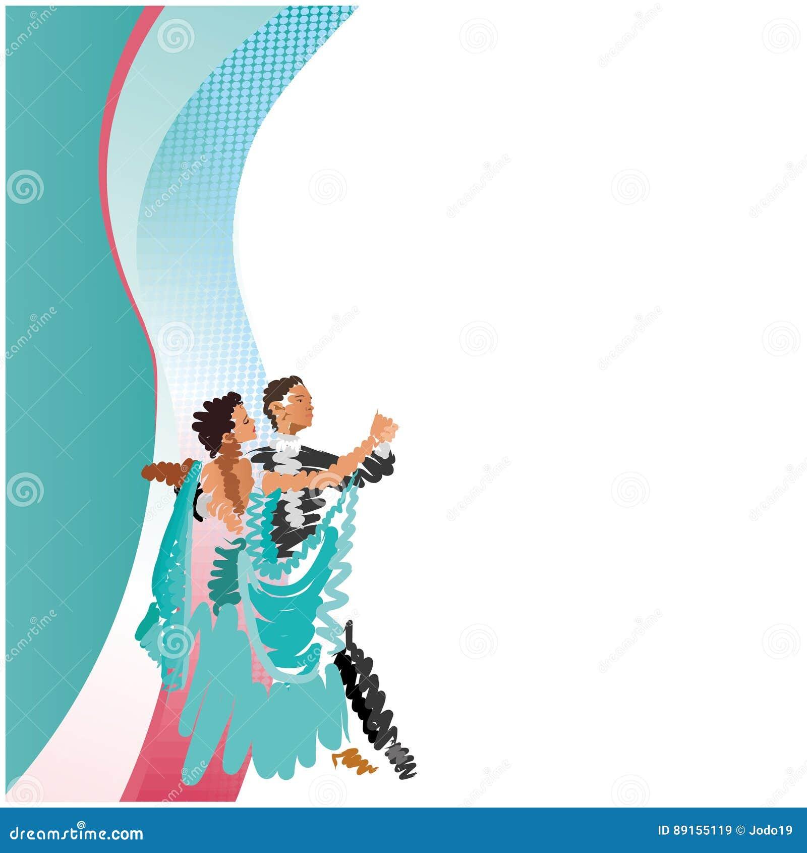 Ένα χορεύοντας ζεύγος