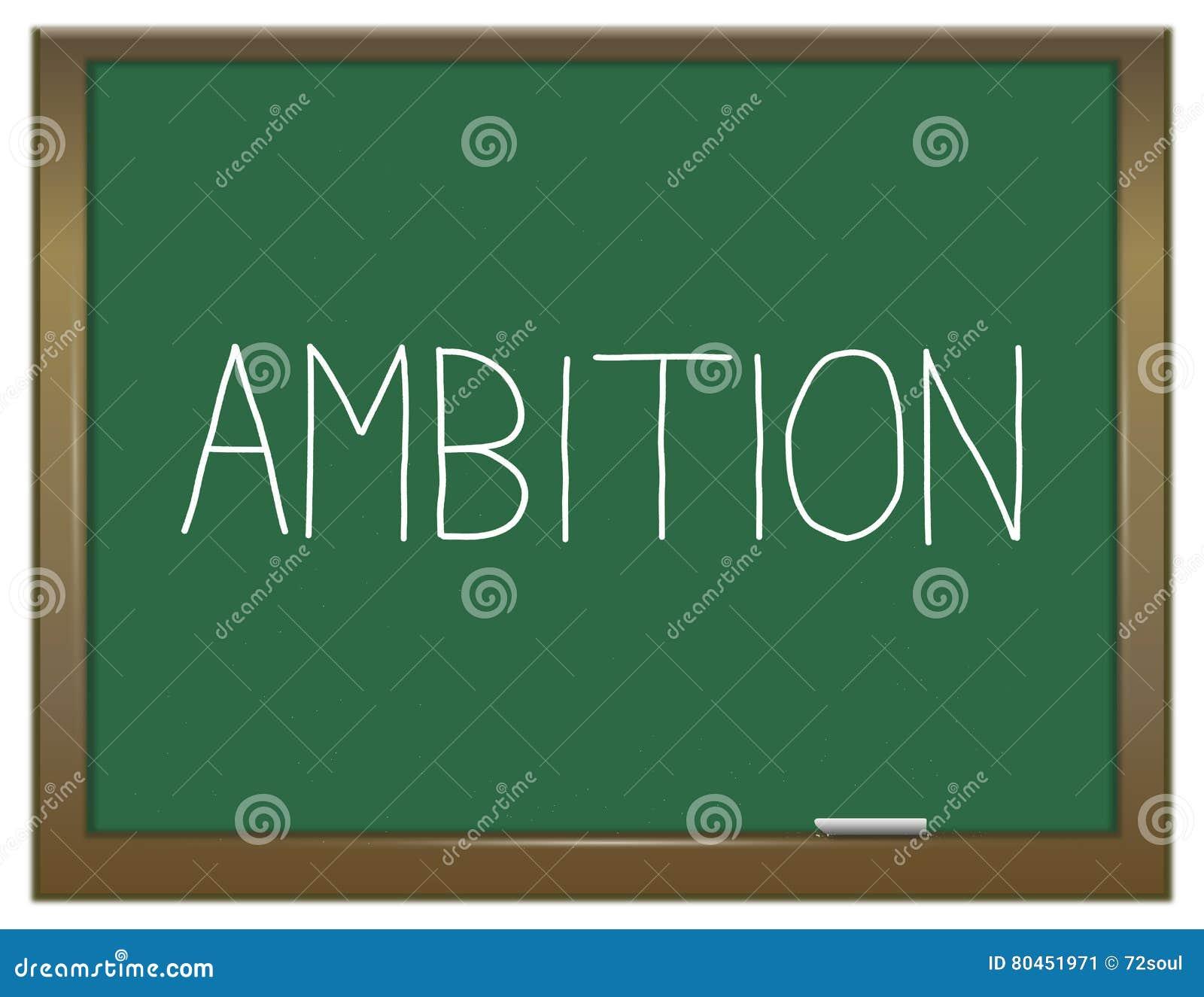 Έννοια λέξης φιλοδοξίας
