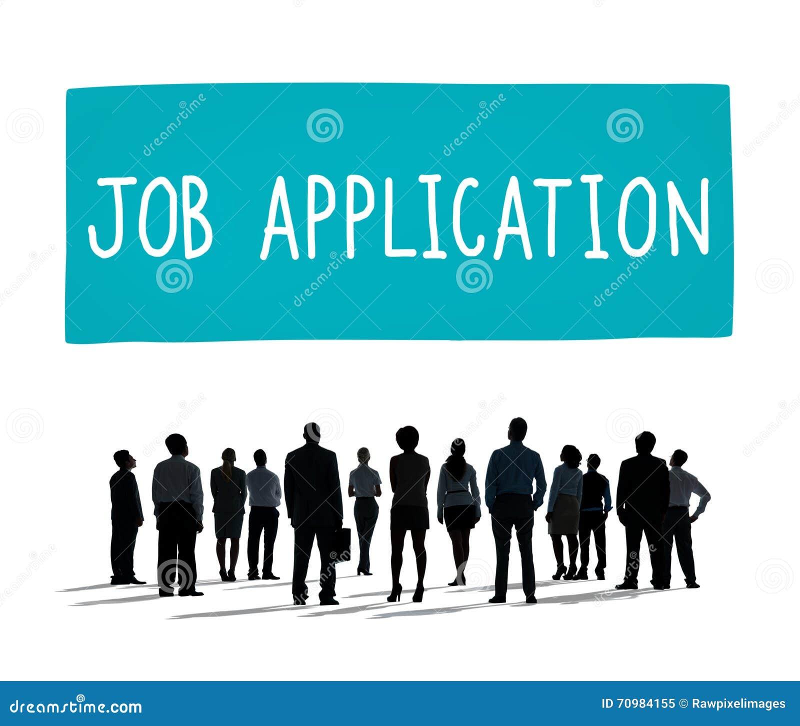 Έννοια απασχόλησης μίσθωσης σταδιοδρομίας αίτησης εργασίας