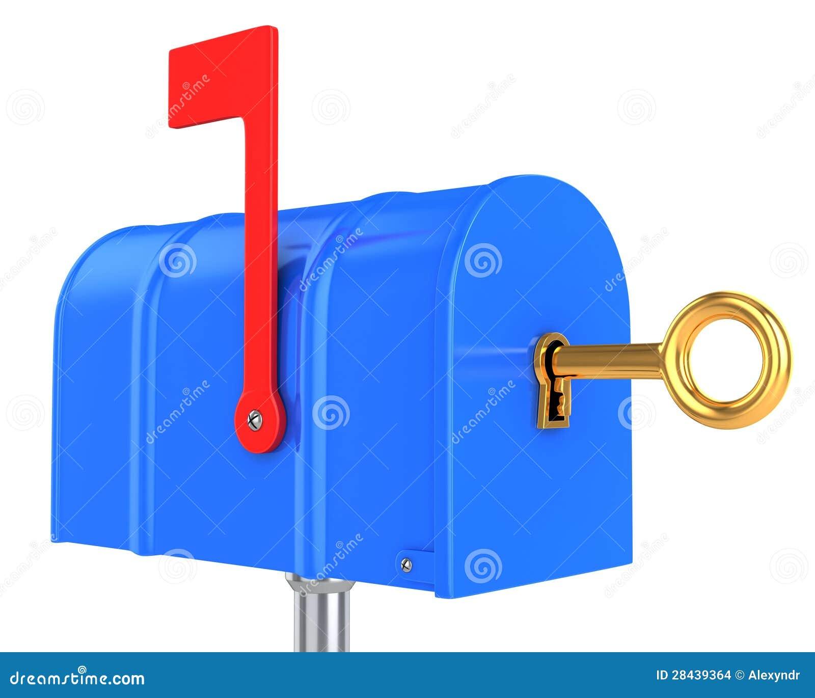 Έννοια ασφάλειας ταχυδρομικών θυρίδων