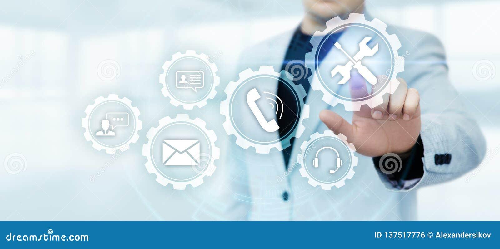 Έννοια Διαδικτύου επιχειρησιακής τεχνολογίας εξυπηρέτησης πελατών τεχνικής υποστήριξης