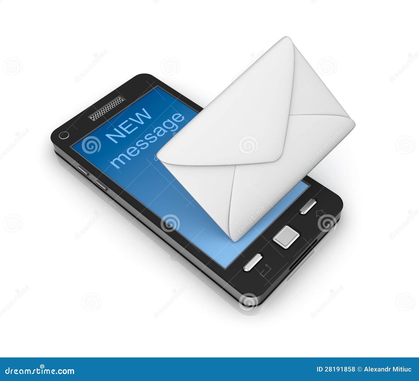 Έννοια εικονιδίων τηλεφωνικού ηλεκτρονικού ταχυδρομείου κυττάρων. στο λευκό.