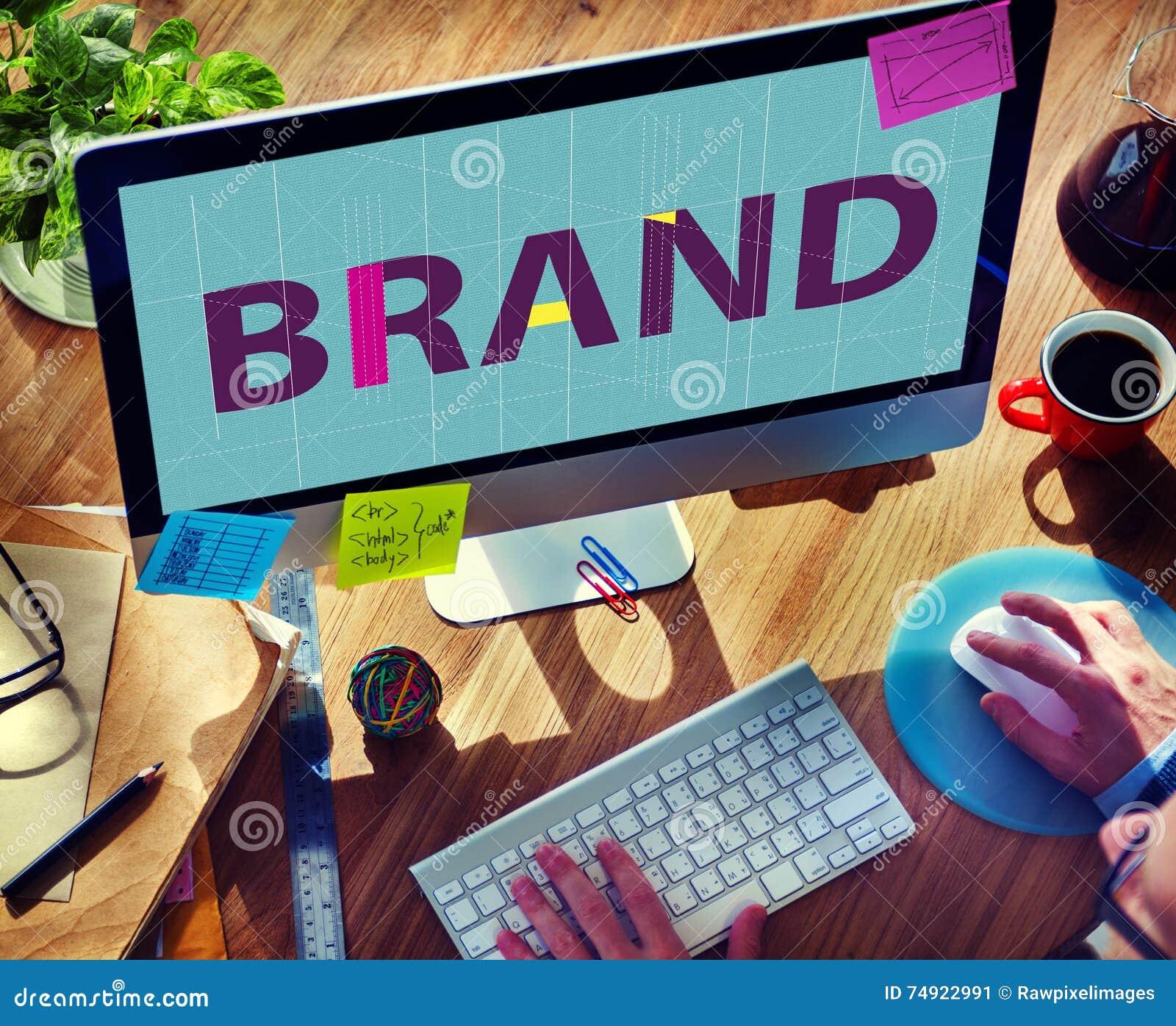 Έννοια εμπορικών σημάτων λογότυπων ετικετών πνευματικών δικαιωμάτων μαρκαρίσματος εμπορικών σημάτων
