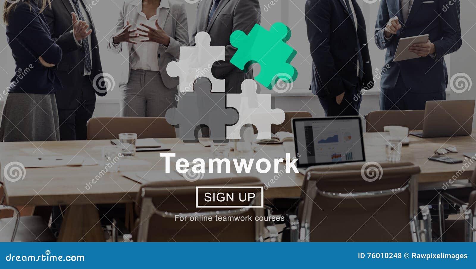 Έννοια ενότητας συμμαχίας συνεργασίας ομαδικής εργασίας ομάδας