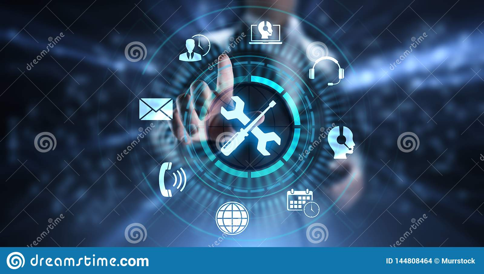 Έννοια εξασφάλισης ποιότητας εγγύησης εξυπηρέτησης πελατών τεχνικής υποστήριξης