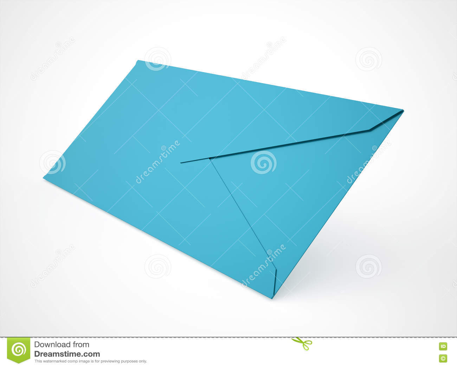 Έννοια επιστολών φακέλων που δίνεται στο λευκό