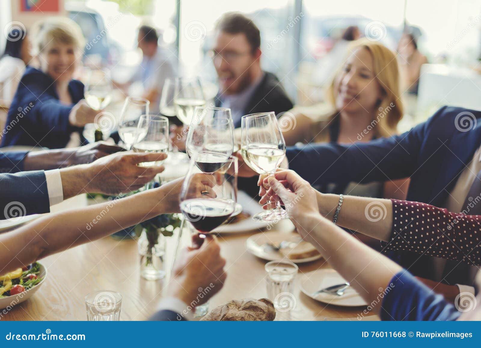 Έννοια επιτυχίας εορτασμού κόμματος επιχειρηματιών