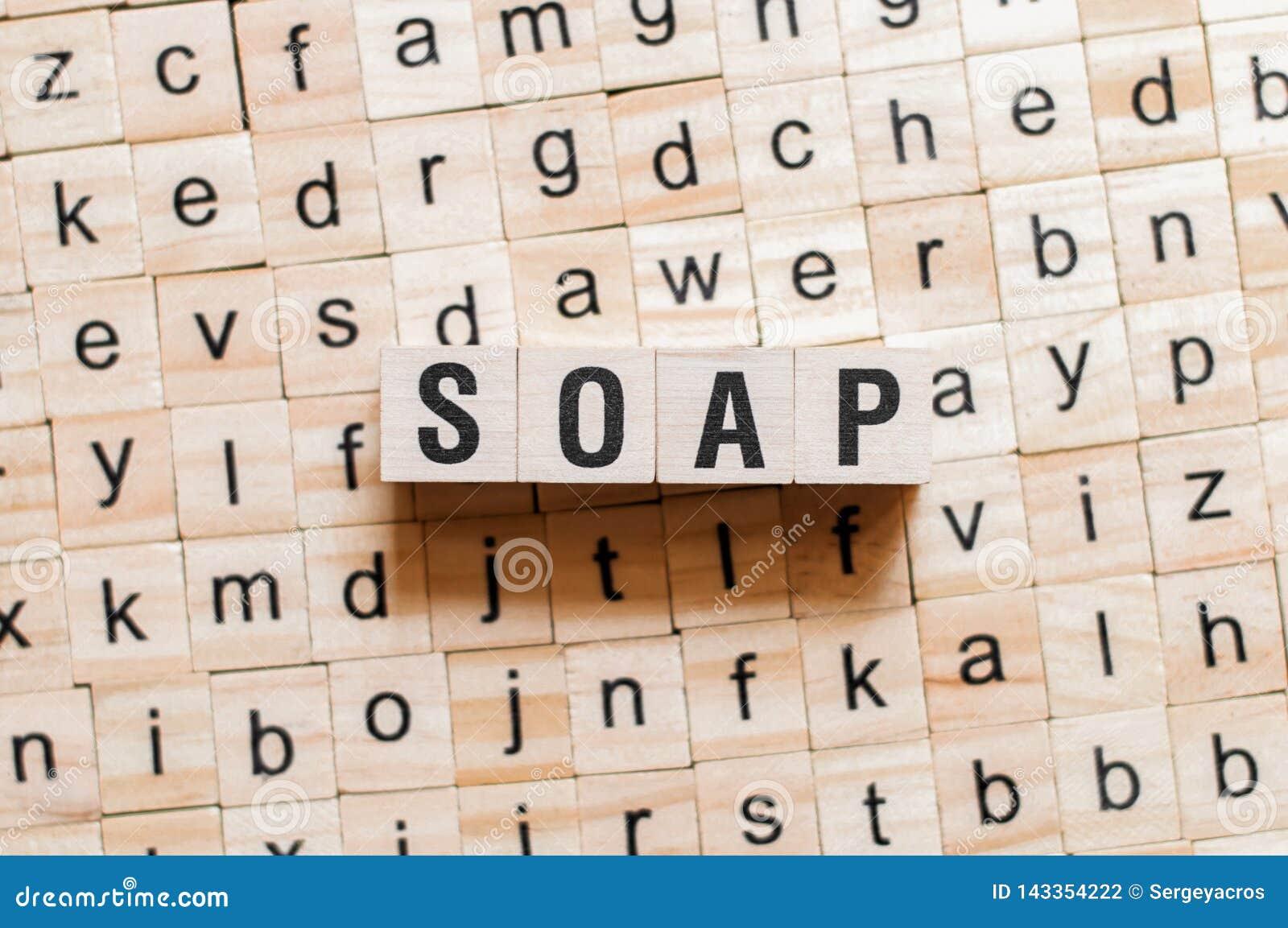 Έννοια λέξης σαπουνιών