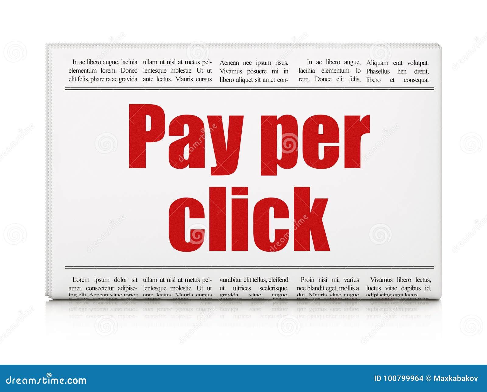 Έννοια μάρκετινγκ: ο τίτλος εφημερίδων πληρώνει ανά κρότο