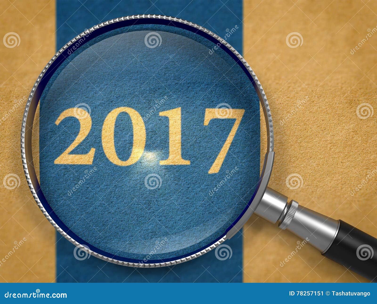 2017 έννοια μέσω Magnifier