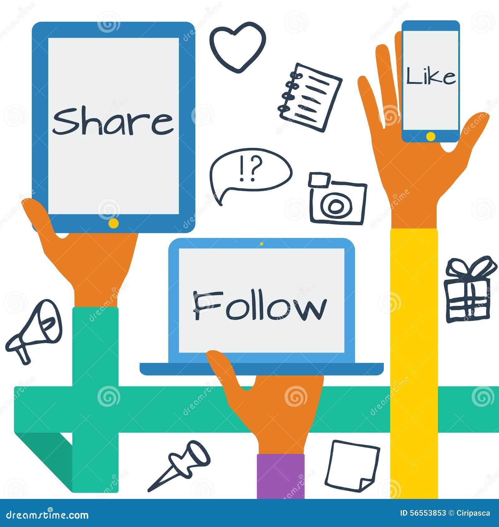 Download Έννοια με τα κοινωνικά εικονίδια μέσων Διανυσματική απεικόνιση - εικονογραφία από μαξιλάρι, σχέδιο: 56553853