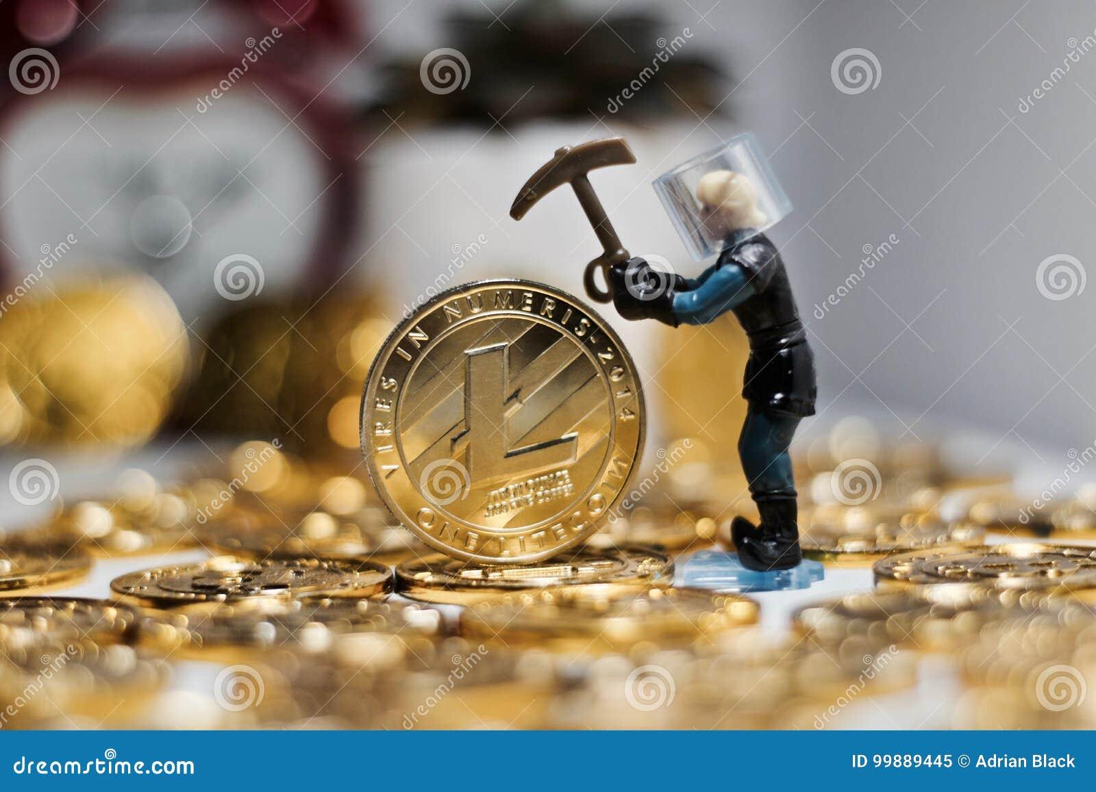 Έννοια νομισμάτων Litecoin
