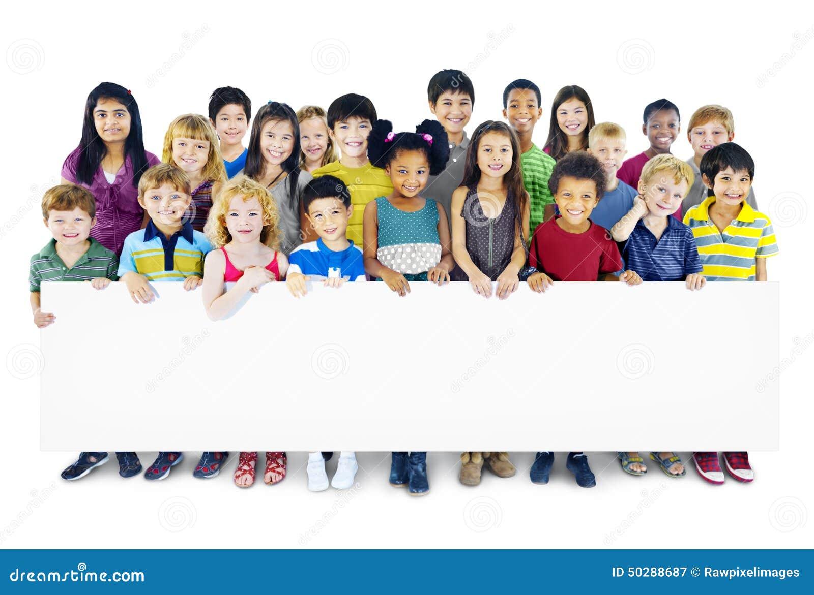 Έννοια ποικιλομορφίας ευτυχίας φιλίας παιδικής ηλικίας παιδιών παιδιών