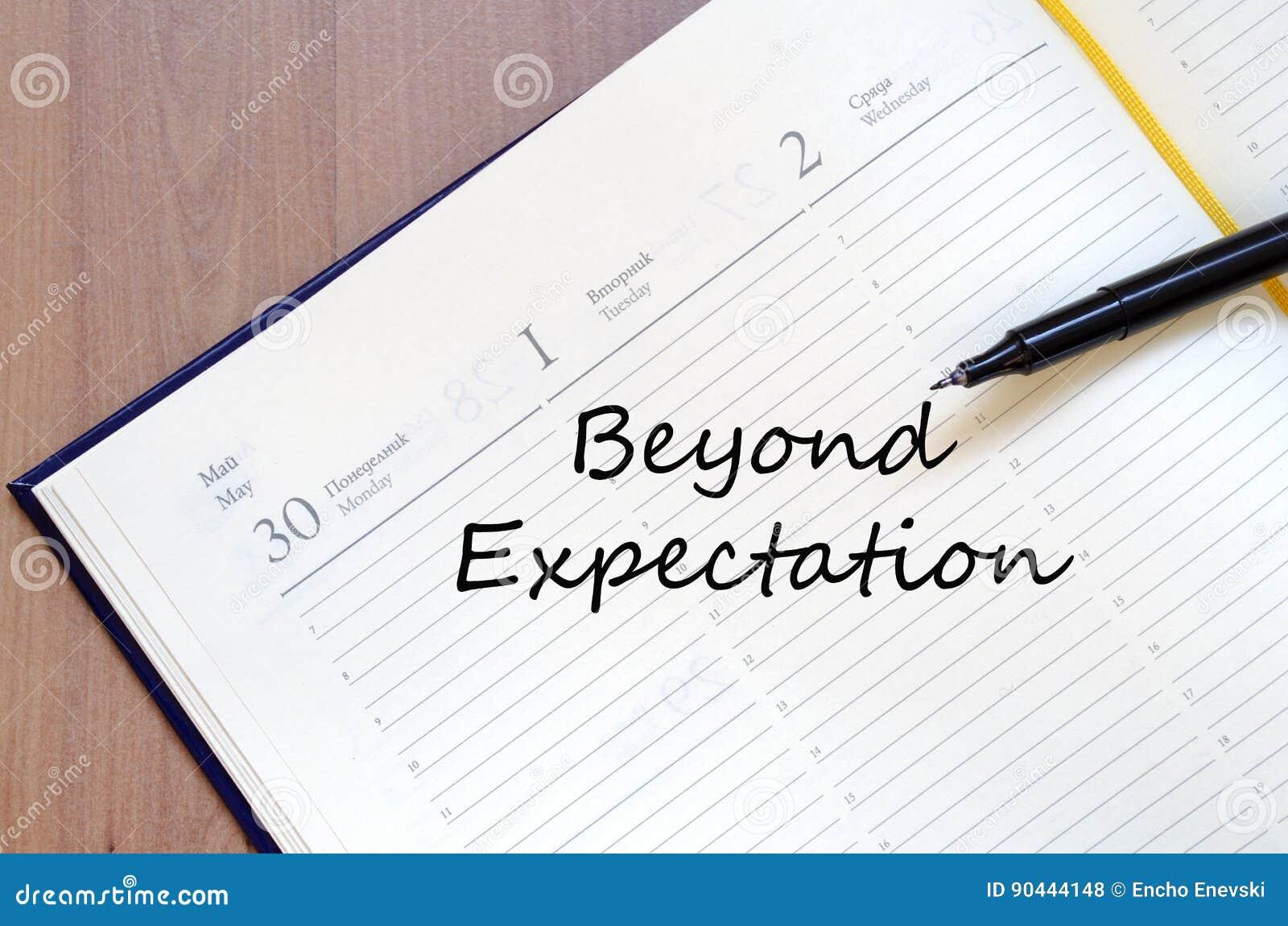 Έννοια προσδοκίας Beyong