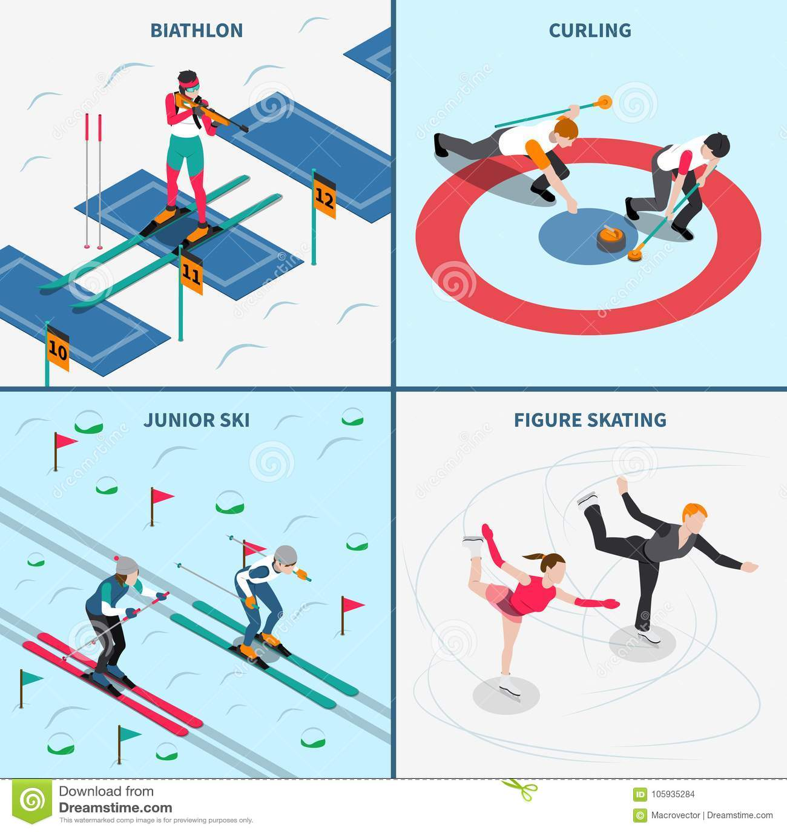 Έννοια σχεδίου χειμερινών Ολυμπιακών Αγώνων
