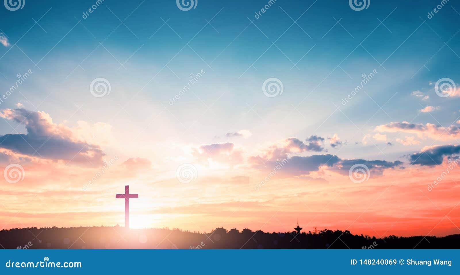 Έννοια σωτηρίας: Το διαγώνιο σύμβολο του Χριστιανού και του Ιησούς Χριστού