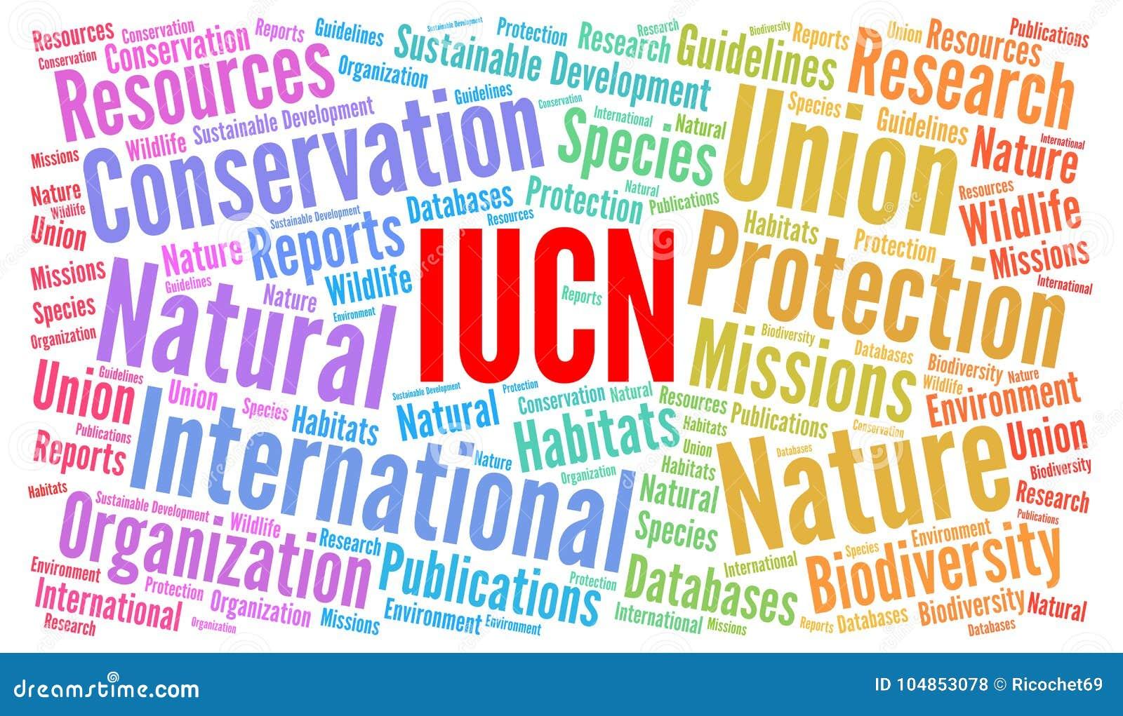 Έννοια σύννεφων λέξης IUCN