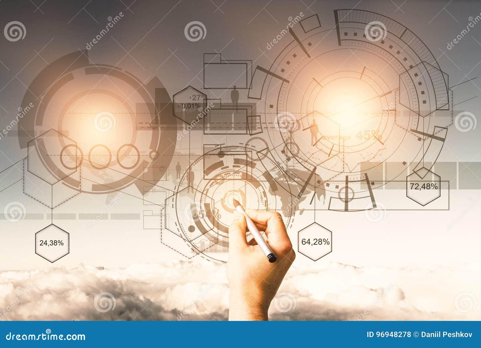 Έννοια τεχνολογίας, μέλλοντος και καινοτομίας