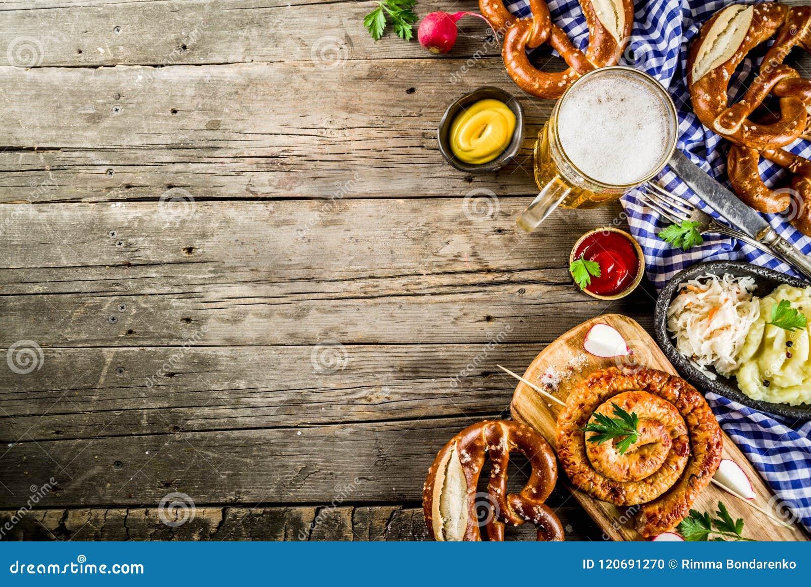 Έννοια τροφίμων Oktoberfest