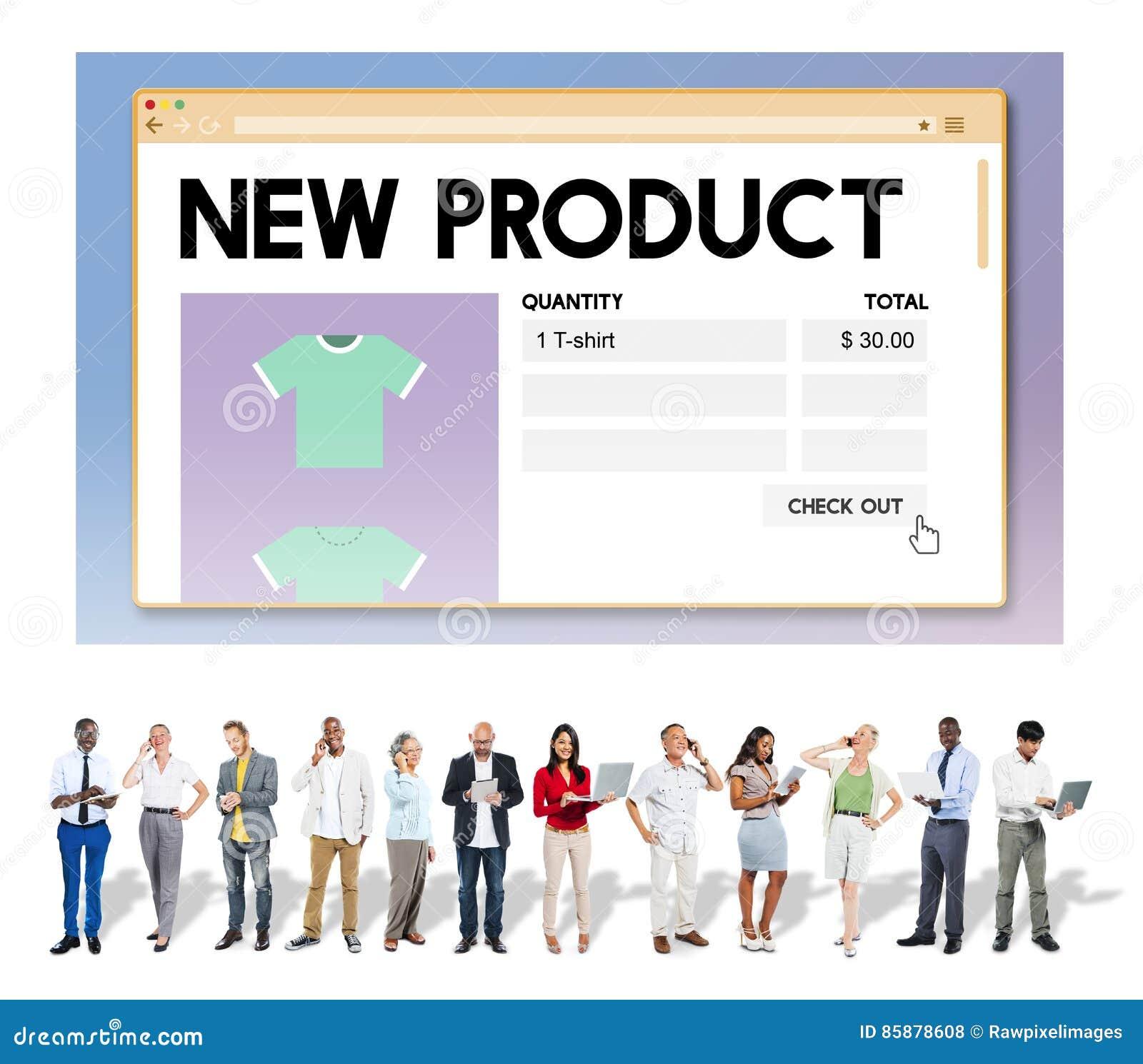 Έννοια υπηρεσιών μάρκετινγκ προώθησης έναρξης νέων προϊόντων
